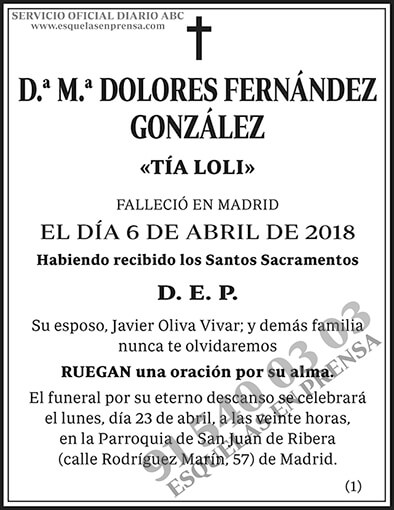 M.ª Dolores Fernández González